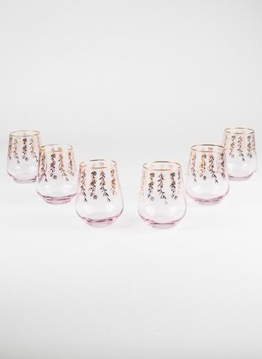 Rakle 425 cc Pera 6'lı Meşrubat Bardağı Seti Pembe Pembe